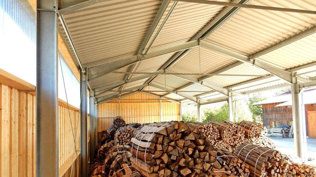 Lagerhalle zur Holzlagerung - HALTEC